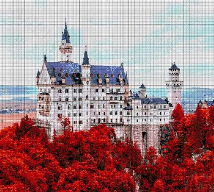 45-3712-НЗ Замок Нойшванштайн - набор для вышивания