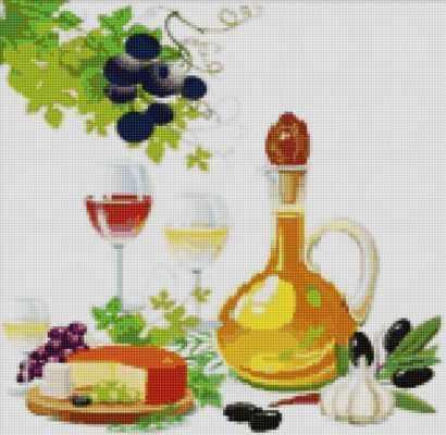 50092 Вино, сыр и оливки - мозаика Anya