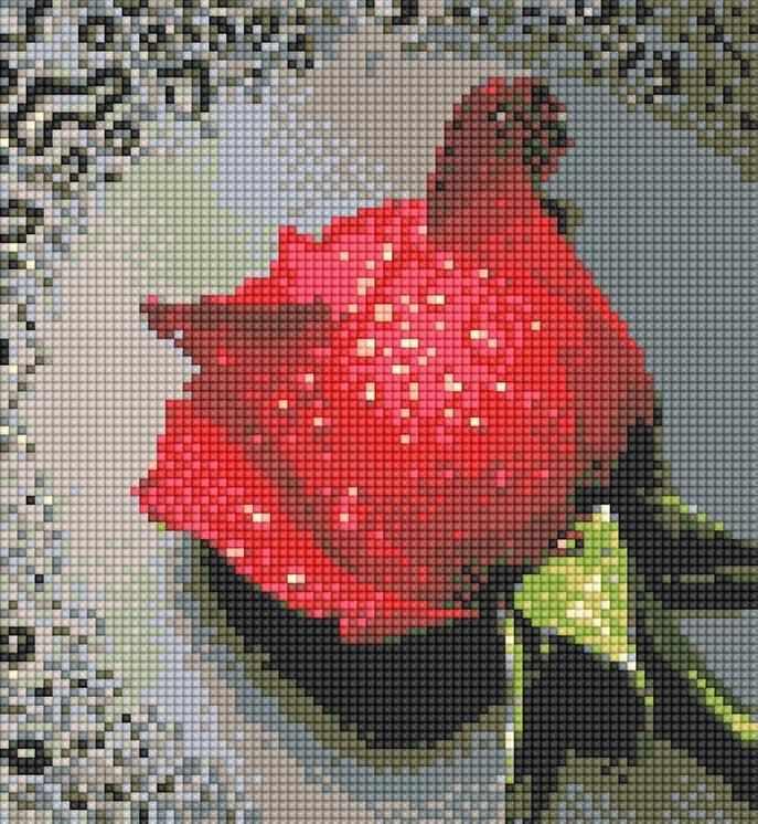 71003,04 Алая роза - мозаика Anya
