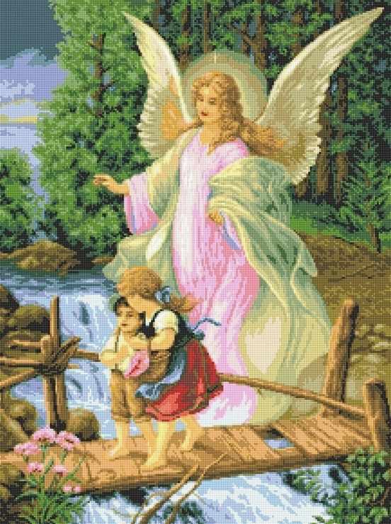 71064,62 Ангел с детьми - мозаика Anya