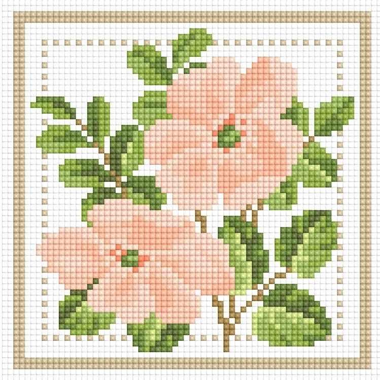71085,26 Ветка цветков - мозаика Anya