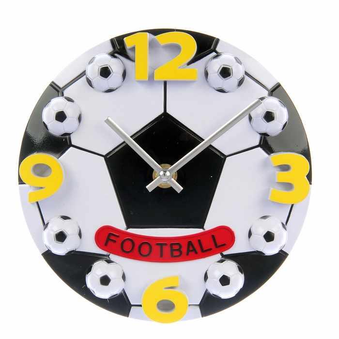 """729469 Часы настенные детские """"Футбольный мяч"""", круглые, микс"""