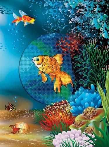 CH814 Подводный мир Золотая рыбка