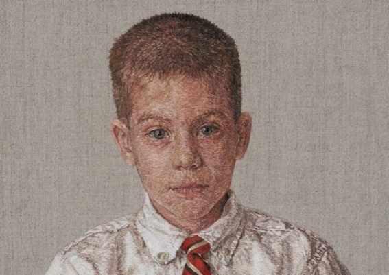 Американская художница вышивает картины, похожие на рисованные красками