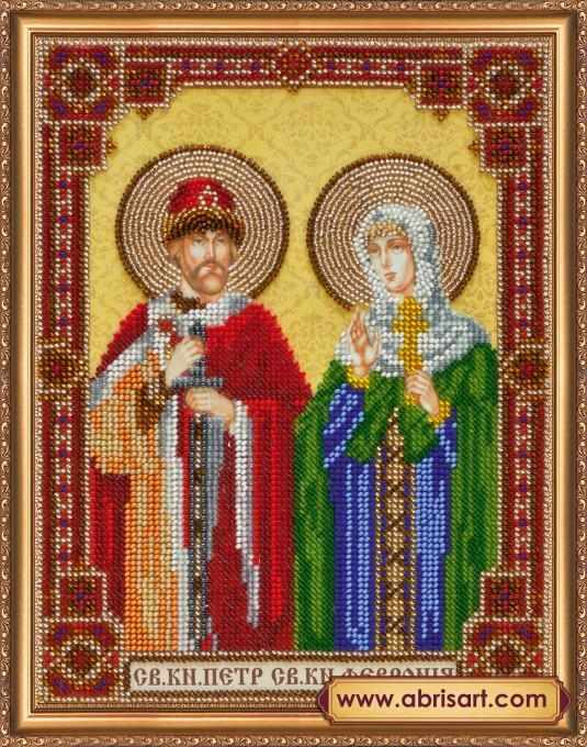 ав-334 икона святого князя петра и святой княгини февронии