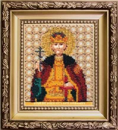Б-1184 Икона святого благоверного великого князя Георгия (Юрия) Всеволодовича Владимирского-чм