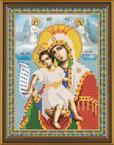 Бис 5011 Божия Матерь Достойно Есть (рисунок на ткани)