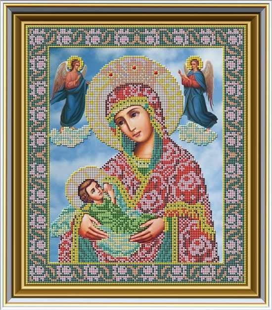 """И 032 Икона Божией Матери """"Млекопитательница"""" - набор (Galla Collection)"""