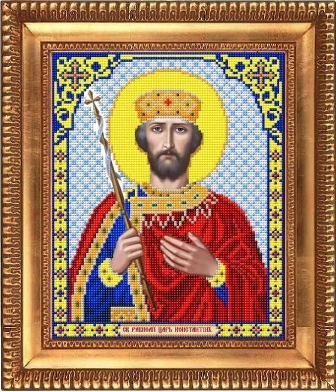 "И-4114  ""Святой Великий Царь Константин"" - рисунок на ткани"