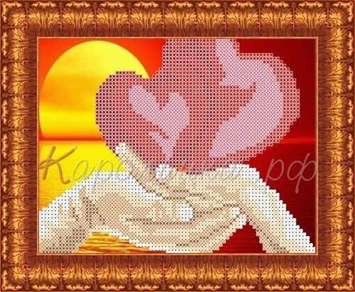 КБЛН(ч) 5009 Влюбленные сердца - набор (Каролинка)