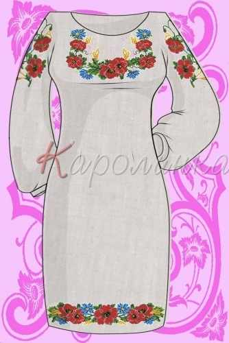 КБС/пл/-05 Заготовка для вышивки платья (Каролинка)