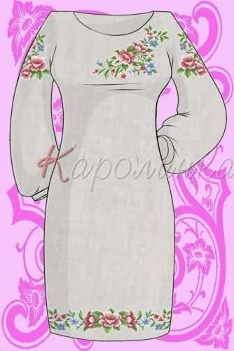 КБС/пл/-07 Заготовка для вышивки платья (Каролинка)