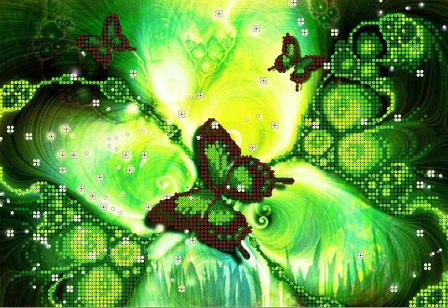 КМЧ-4353 Малахитовая бабочка - схема (Мастерица)