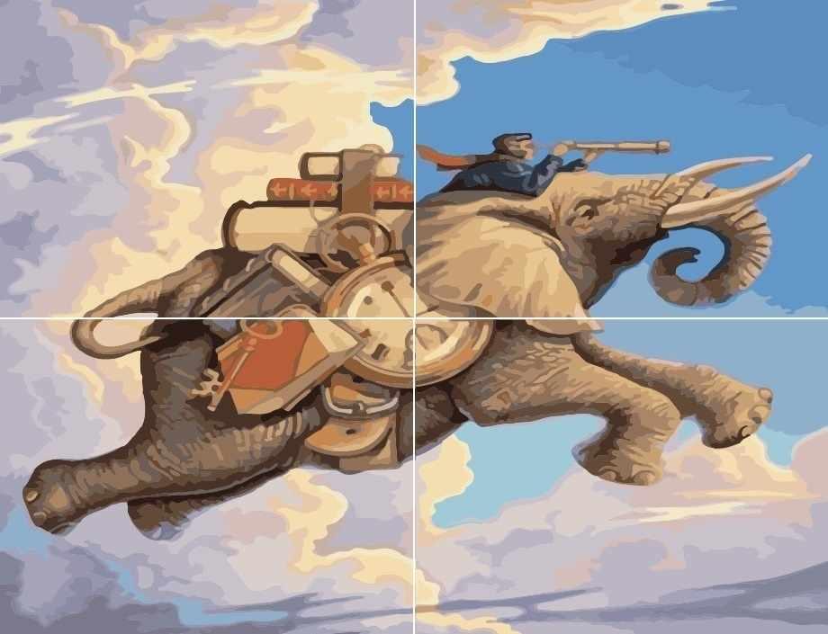MMM4012 Летающий слон - раскраска (Menglei)