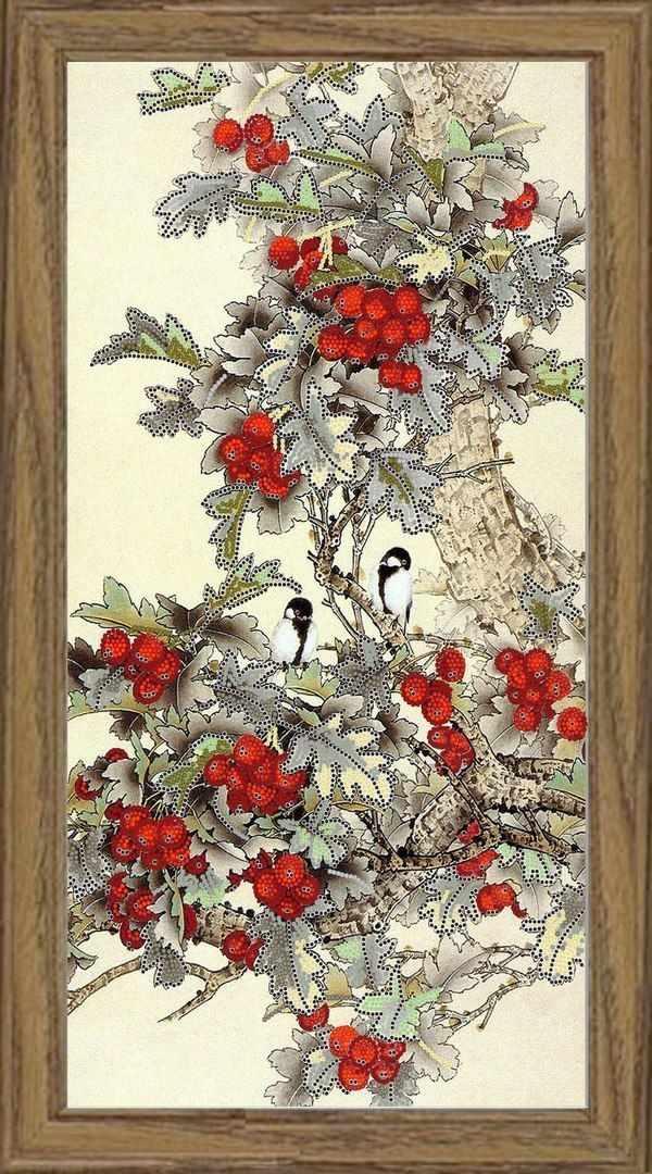 НИК 9466 Лесные ягоды  - схема для вышивания