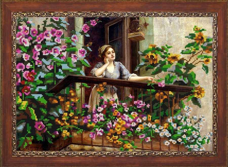 НИК 9743 На балконе - схема для вышивания