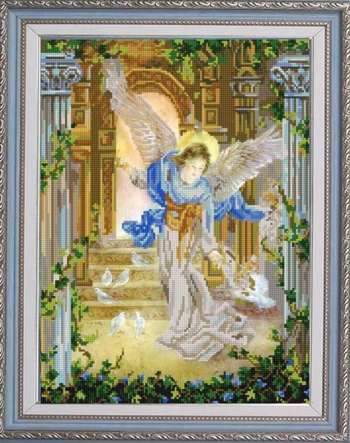 НИК 9794 Ангел и голуби - рисунок на ткани