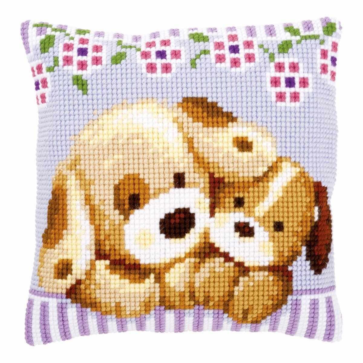 PN-0153903 Cuddling Dogs (Vervaco)