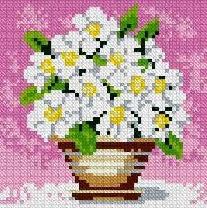 Полевые цветы (АЖ-1079) - картина стразами