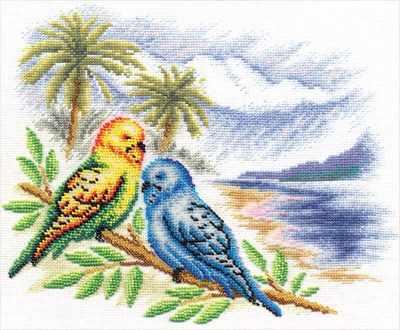 """ПТ-0856 """"Волнистые попугайчики"""""""