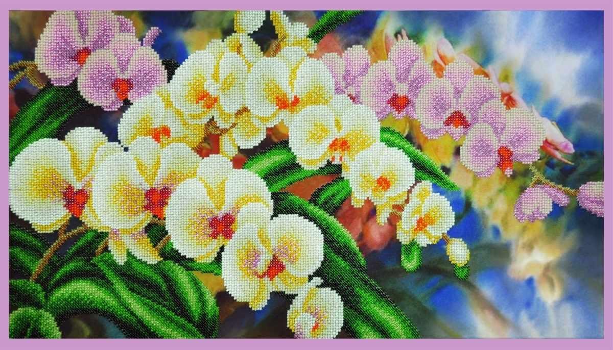 """Р-308  """"Орхидеи в саду"""" - набор для вышивания"""
