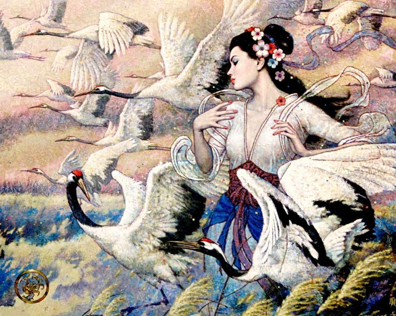 R-932 Японская богиня - мозаика Милато