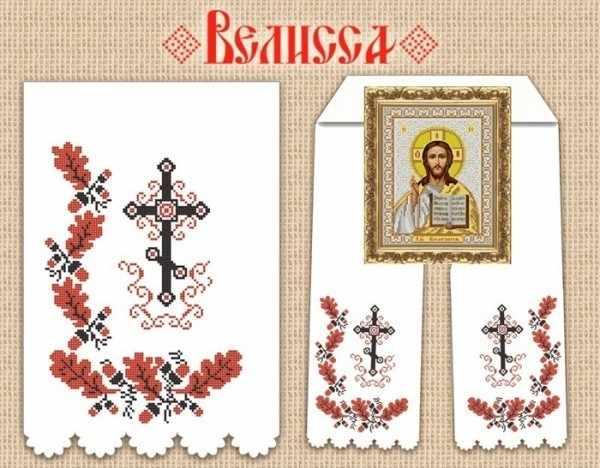 РИ-408 Рушник для иконы (Божник мужской) - схема (Велисса)