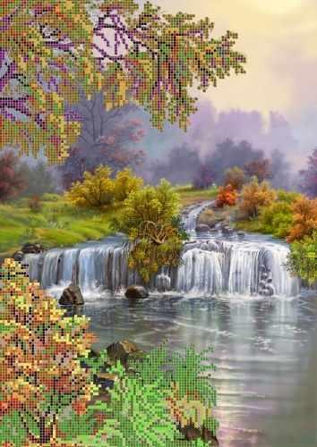 """S-013 """"Водопад"""" - рисунок на ткани"""