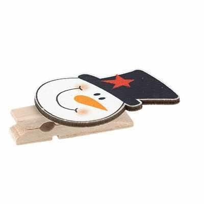 WCLC-35 Декоративные прищепки, C11 Снеговик в шляпе