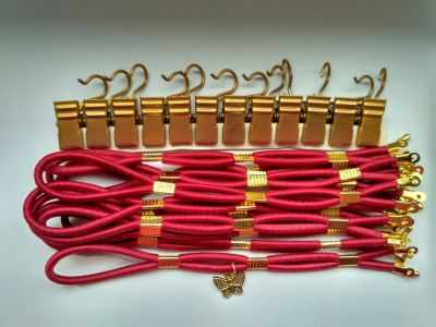 001080 Боковая натяжка плотная, рубиновый закат - Боковая натяжка канвы