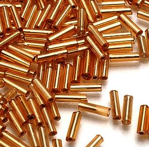 Бисер TOHO №0022F св.золотистый BUGLE №4 9 мм