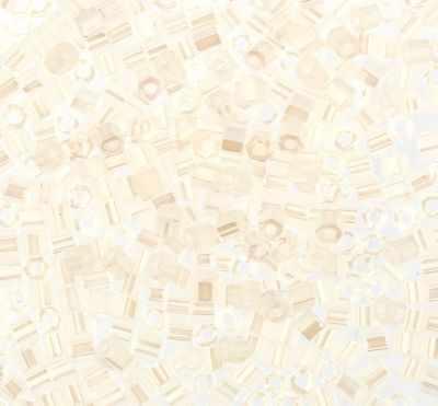 №0141 белый/перл 11/0 HEXAGON №3 2.2 мм