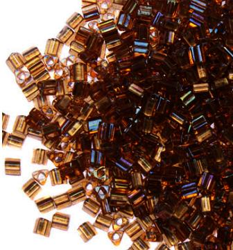 №0278 т.золотой/радужный 11/0 TRIANGLE №3 2.2 мм
