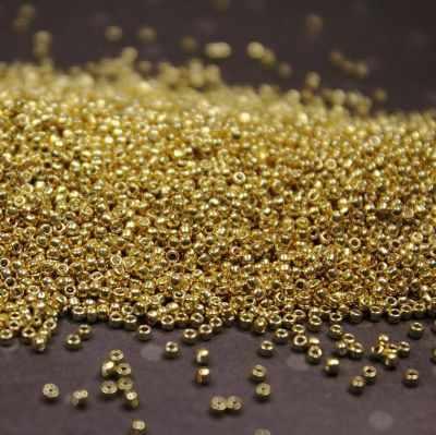 Бисер TOHO №0557 золотой 15/0 круглый 4 1.5 мм