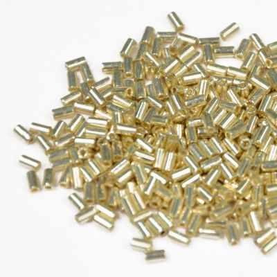 Бисер TOHO №0558 серебряный BUGLE №5 3 мм