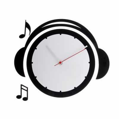 118706 Часы настенные детские Плеер, чёрно-белые