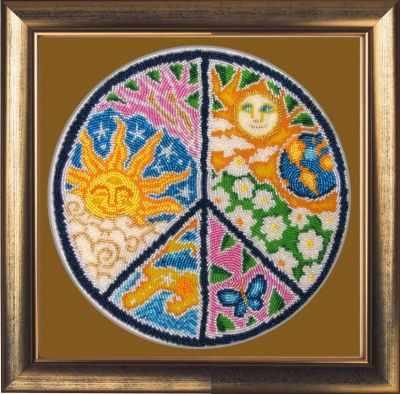 119 Мандала мира - Butterfly