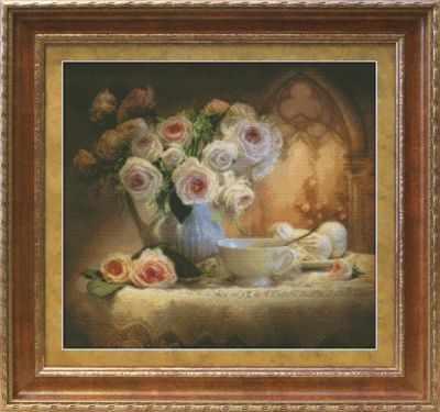 1203 Чайный натюрморт  набор для вышивания (Юнона) - Юнона