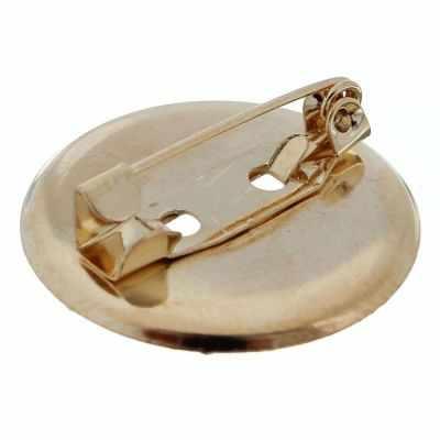 1353644 Булавка для броши с круглым основанием, цвет золото