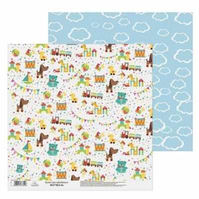 1477341 Бумага для скрапбукинга «Здесь живет детство» Любимые игрушки