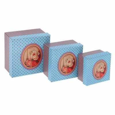 1535837 Набор коробок 3 в 1  Цветы Парижа  - Подарочные коробки