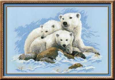 Набор для вышивания Риолис (Сотвори Сама) 1033 «Белые медведи»