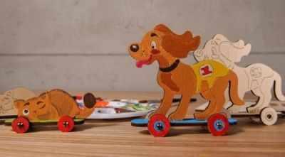 20004 Конструктор 3D-пазл 4kids - Котёнок и щенок