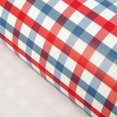 2054404 Набор упаковочной бумаги  Клетка красно-синяя  - Бумага