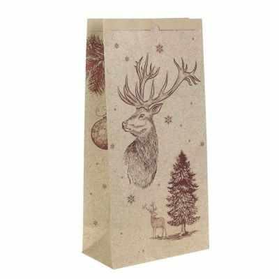 Подарочный конверт Арт Узор 2391202 Пакет крафтовый Зимнее настроение