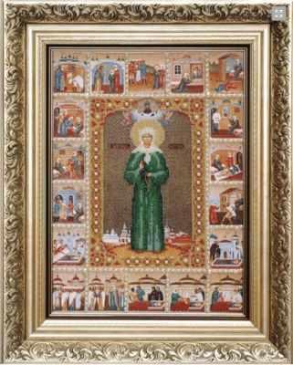 Б-1015 Икона Св.Блаженной Матроны Московской - чм