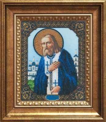 Б-1025 Икона Преподобному Серафиму Саровскому - чм