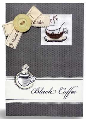 """(S)P-13 Набор для изготовления открытки """"Black coffee"""""""