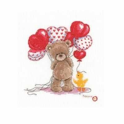Набор для вышивания Vervaco PN-0143713 Милые воздушные шарики