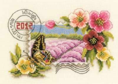 Набор для вышивания Vervaco PN-0144086 Цветочная марка - 1